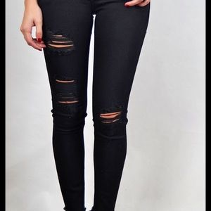 Just black ripped jeans